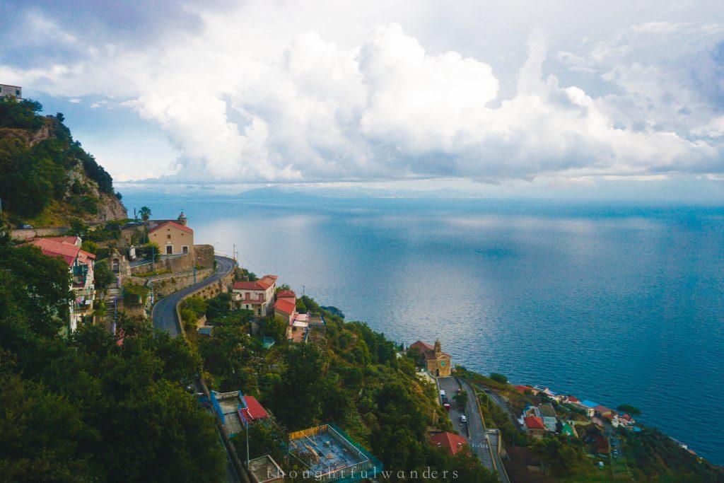 Amalfi Coast roads and ocean view