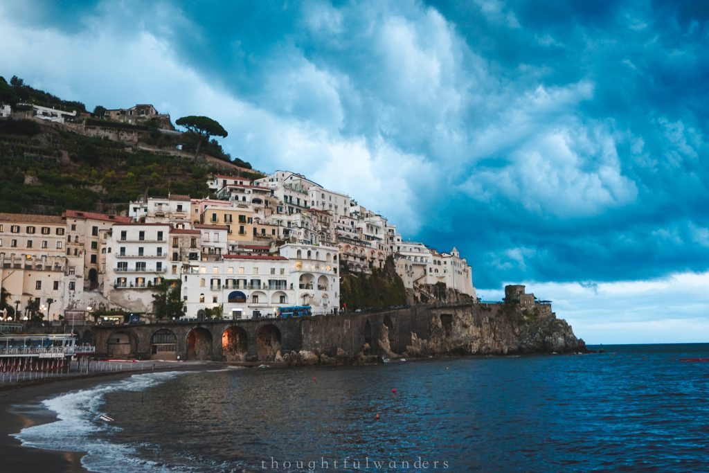 Amalfi town, Amalfi Coast Italy cloudy weather
