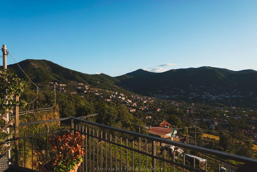 Town of Bomerano from balcony