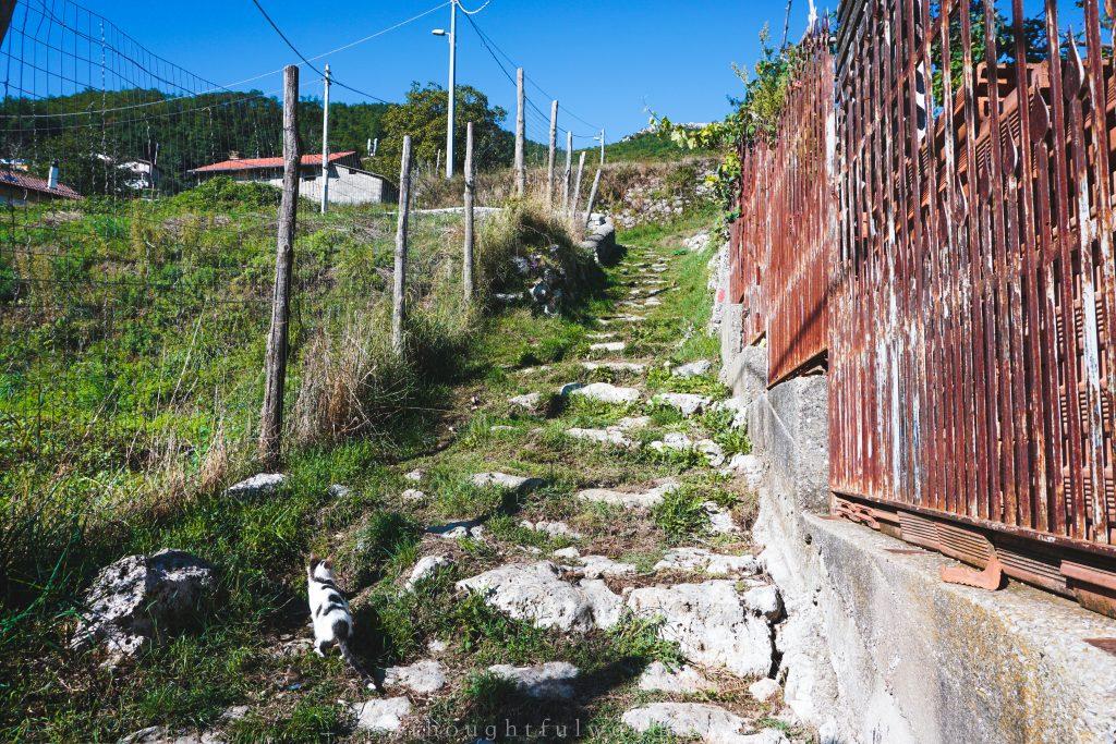 Stone path walk Bomerano, Amalfi Cooast, Italy