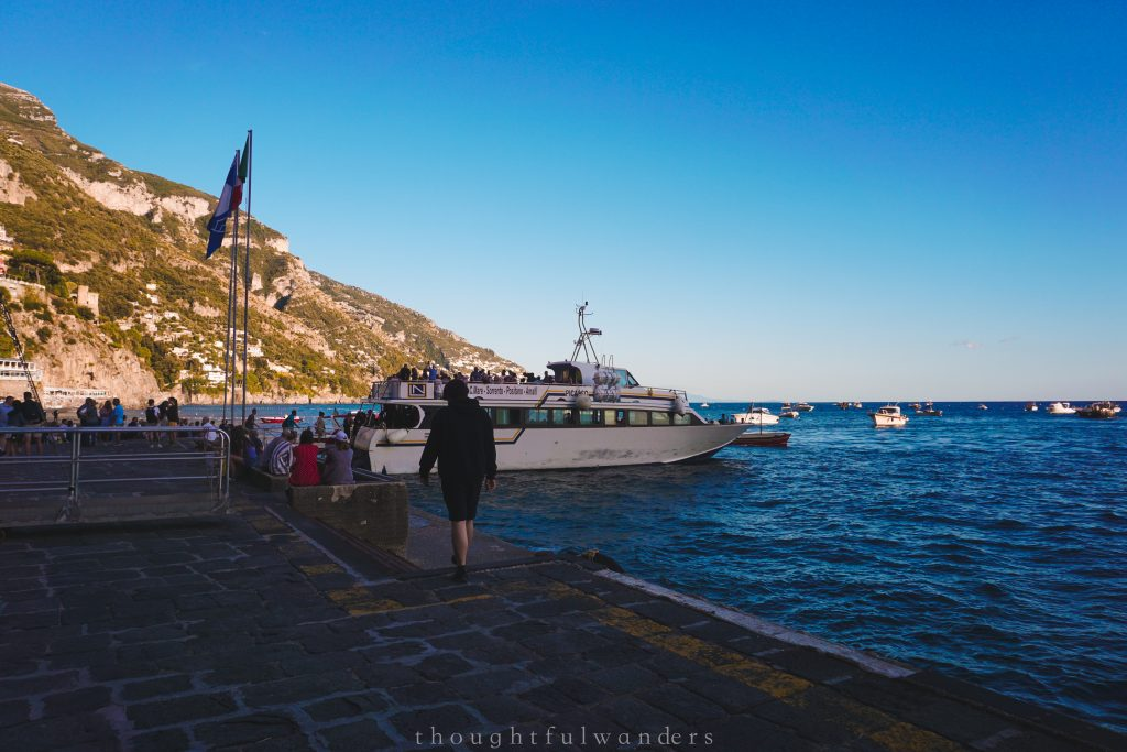 Waiting for the ferry in Positano