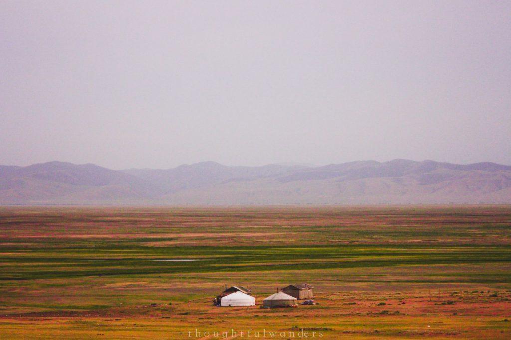 Mongolian yurts or gers