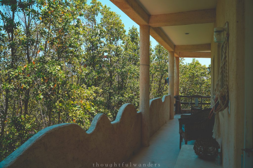 Holbox balcony view