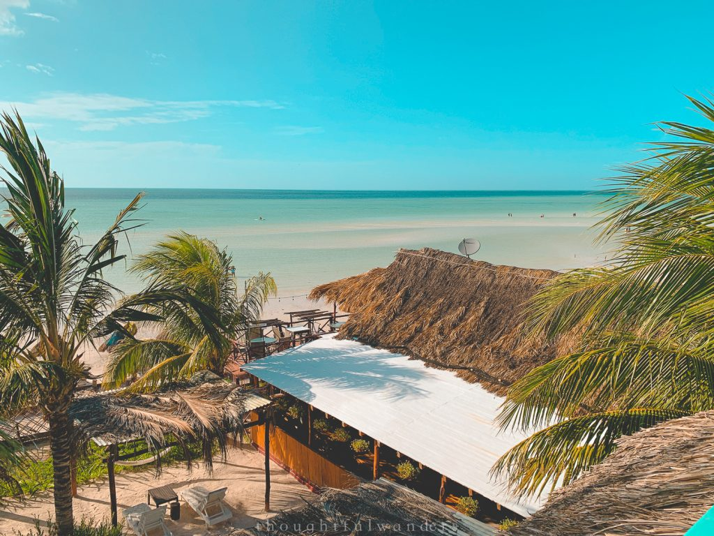 Isla Holbox views from a rooftop bar