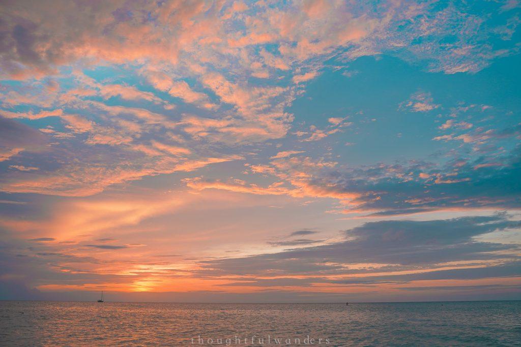 Isla Holbox sun set