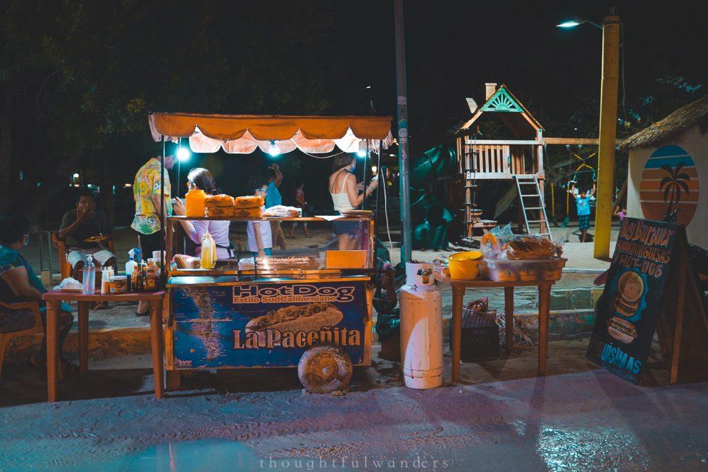 Holbox street vendor food