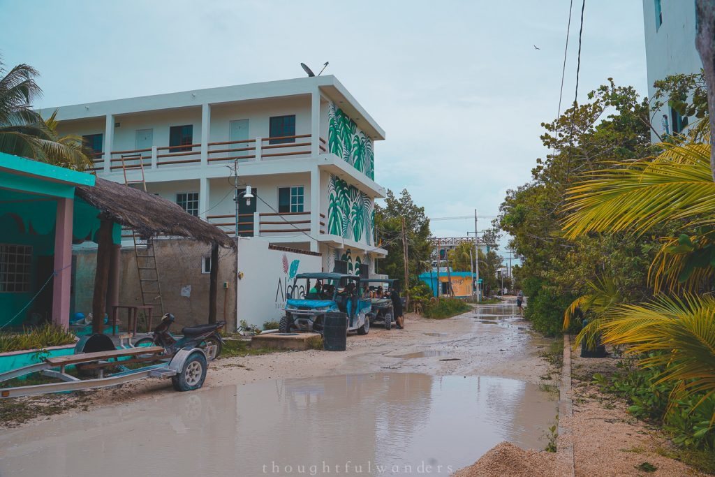 Holbox muddy roads