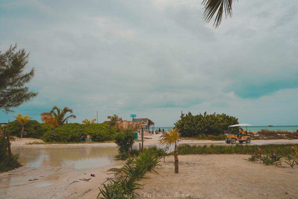Isla Holbox road to the beach