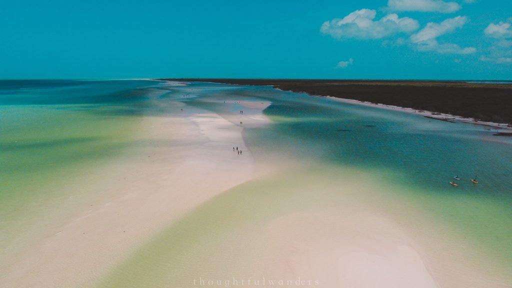 Drone footage of Isla Holbox Punta de Mosquito