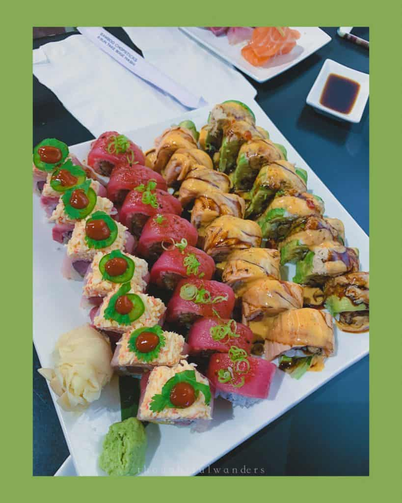 Sushi rolls in Baltimore