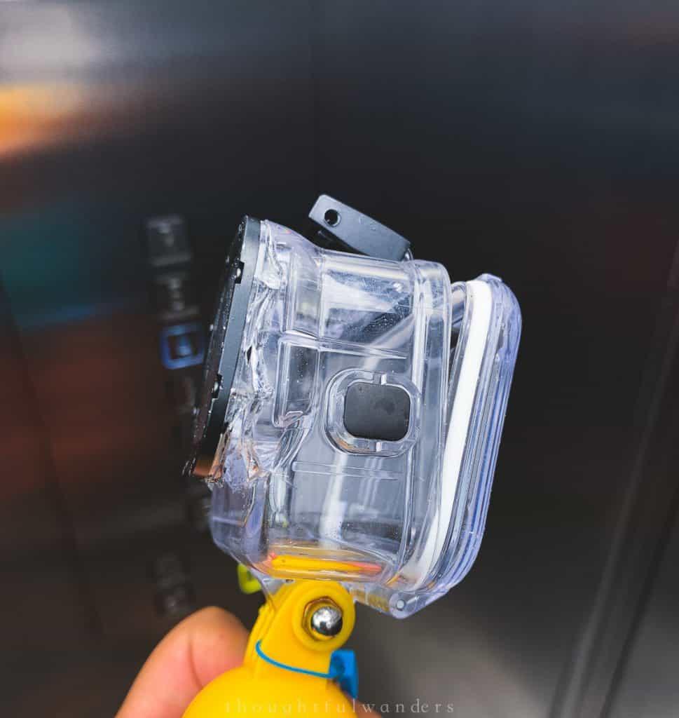 Broken Gopro waterproof case